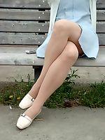 asian nylon and pantyhose